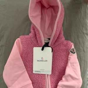 Moncler baby Sherpa jacket with matching pants